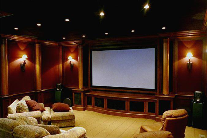Home theater it39s just wire for Theater room furniture ideas